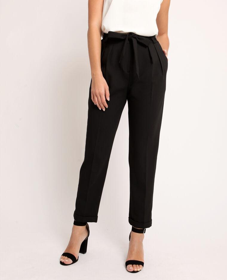 Pantalone city con cintura nero