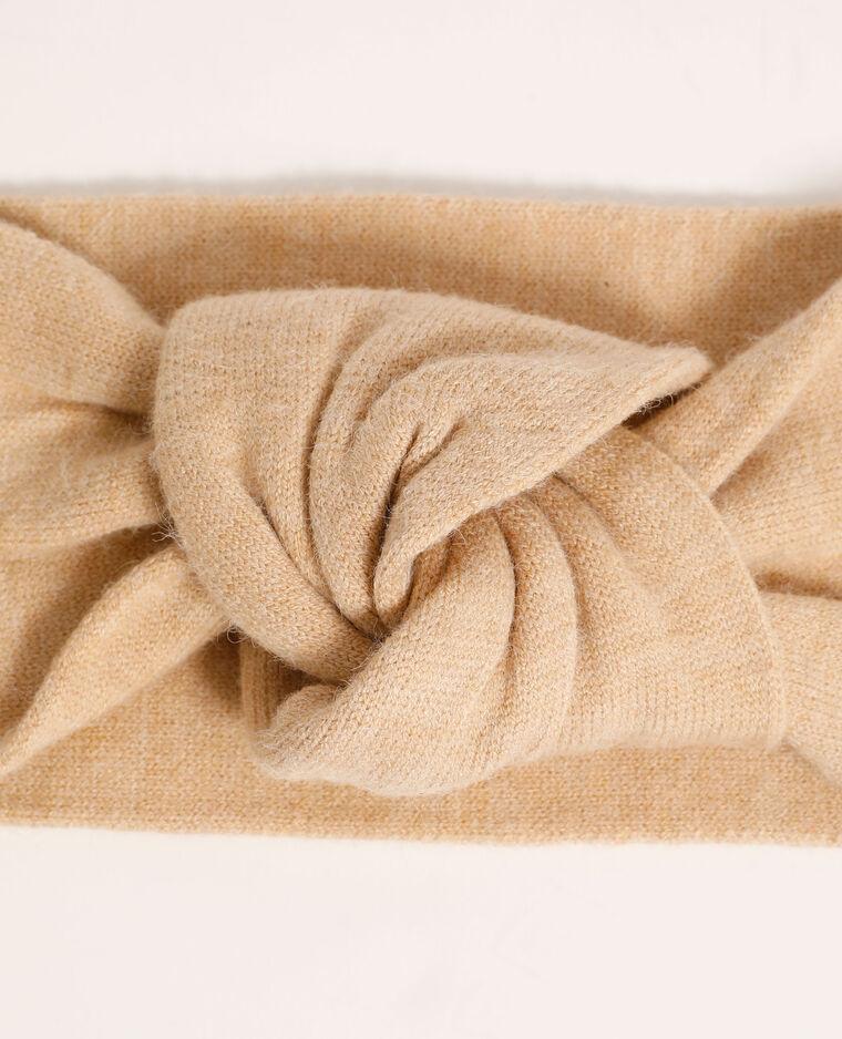 Fascia per capelli all'uncinetto beige - Pimkie