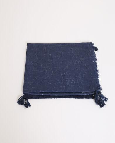 Foulard lurex blu elettrico