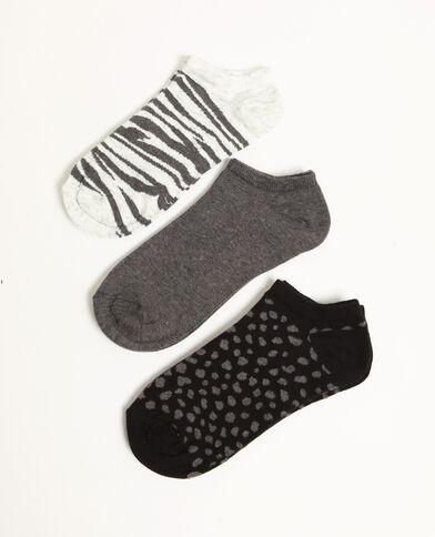 Lotto di calze invisibili nero