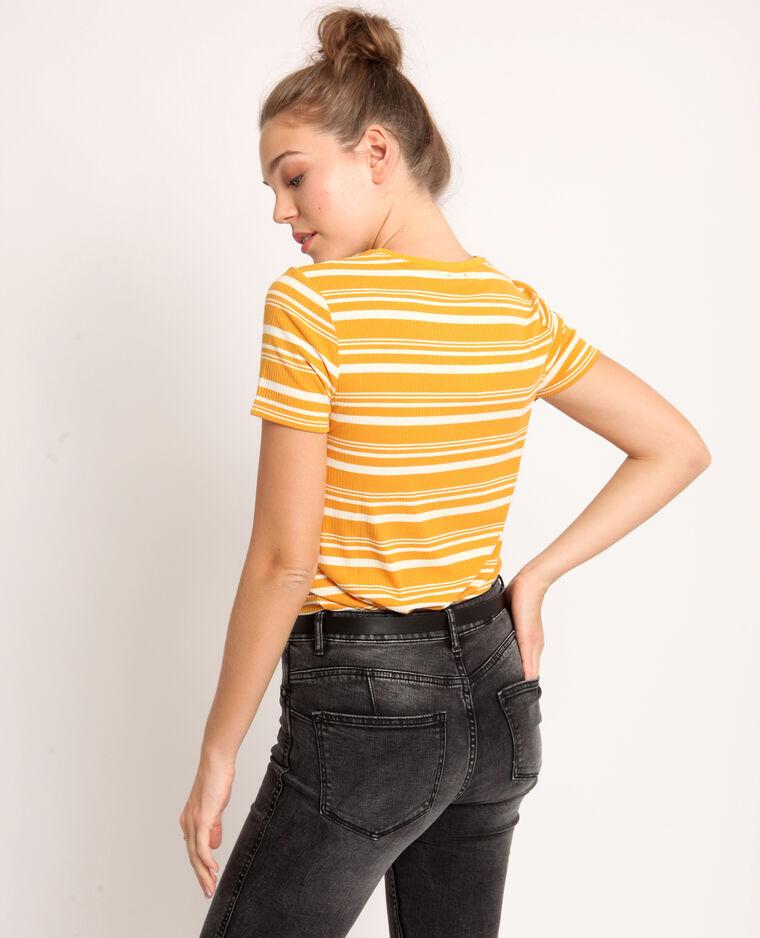 T-shirt a righe giallo