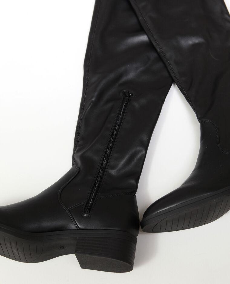 - Stivali in similpelle. nero