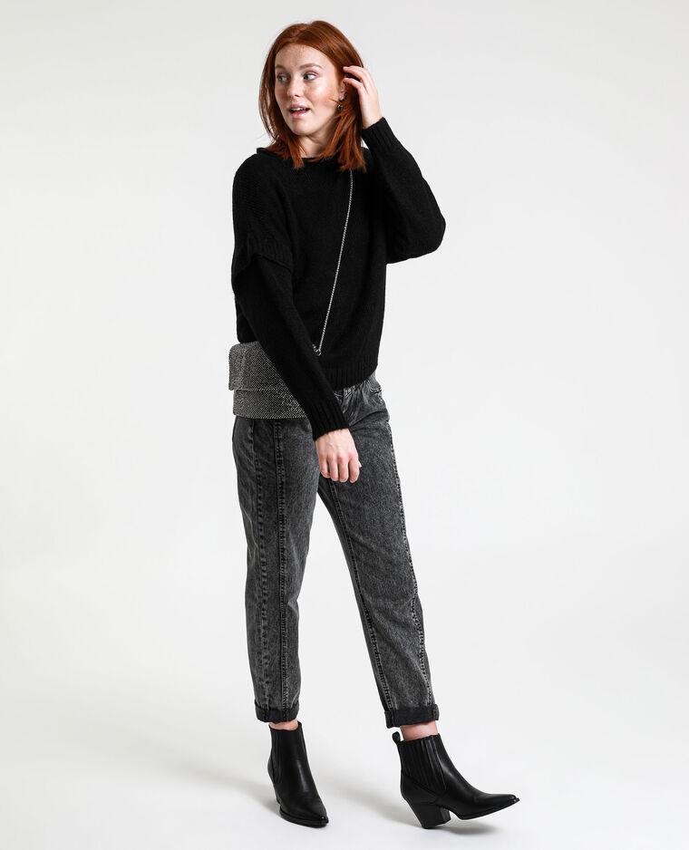 Pull in maglia spessa nero
