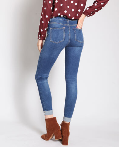 Jeans skinny con risvolto blu