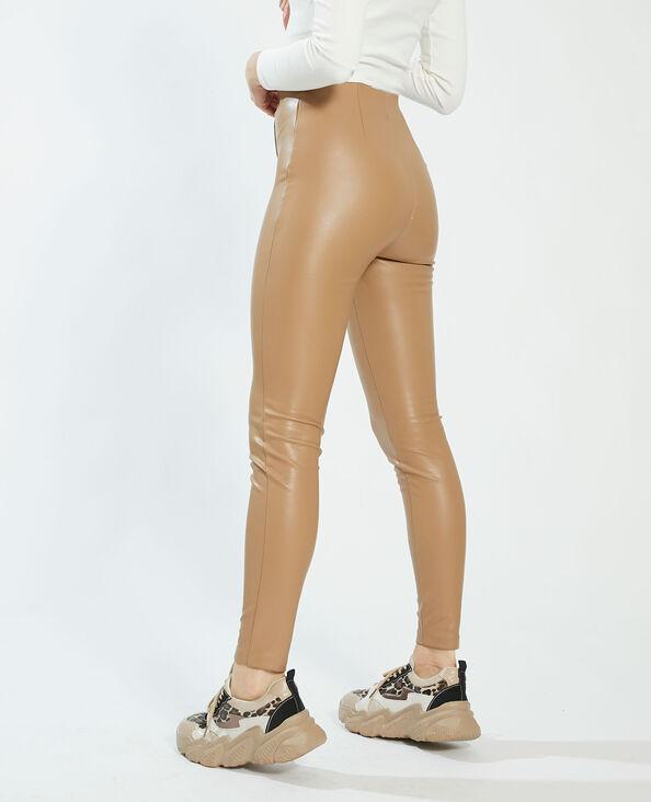 Leggings in similpelle beige - Pimkie