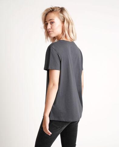 T-shirt Bambi grigio antracite