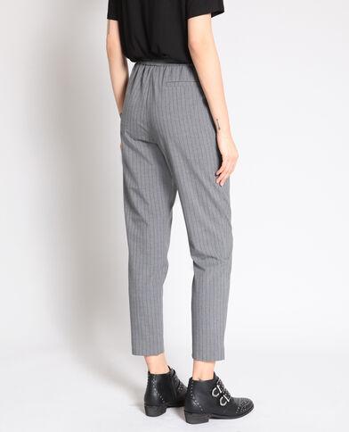 Pantalone city a righe grigio