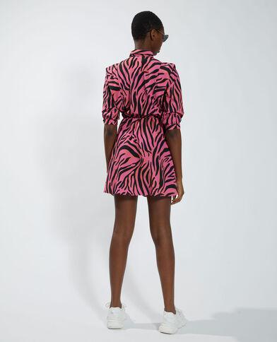 Abito camicia zebrato granata - Pimkie