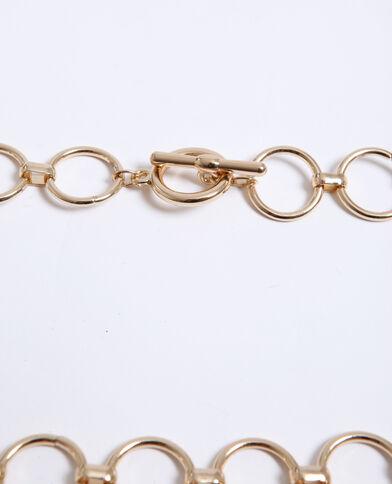 Cintura in catena giallo