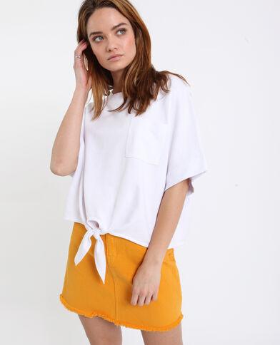 T-shirt da annodare bianco