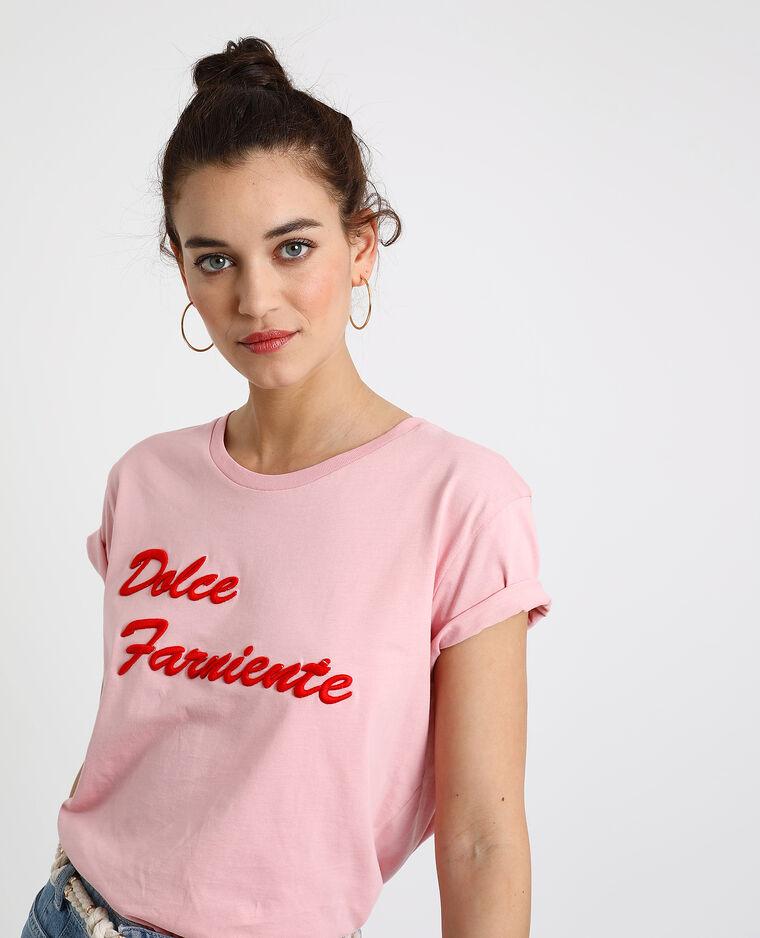 T-shirt Dolce Farniente rosa - Pimkie