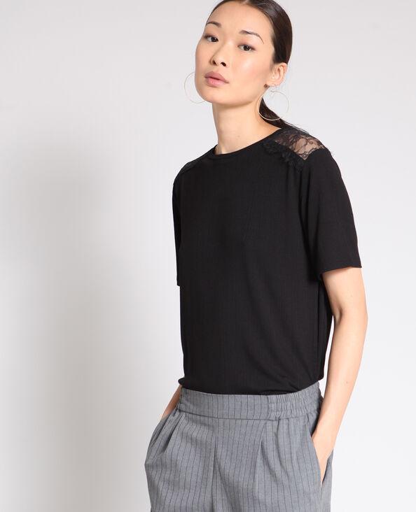 T-shirt ricamo nero