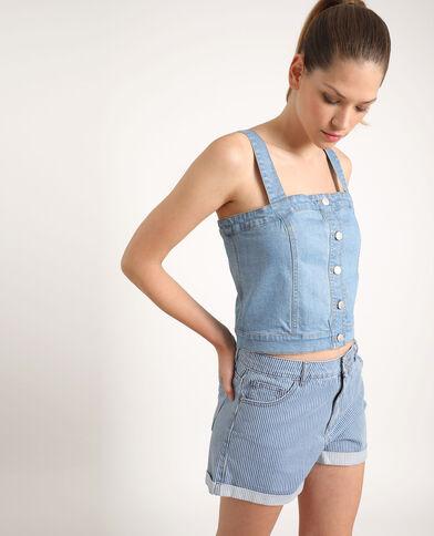 Top in jeans blu chiaro