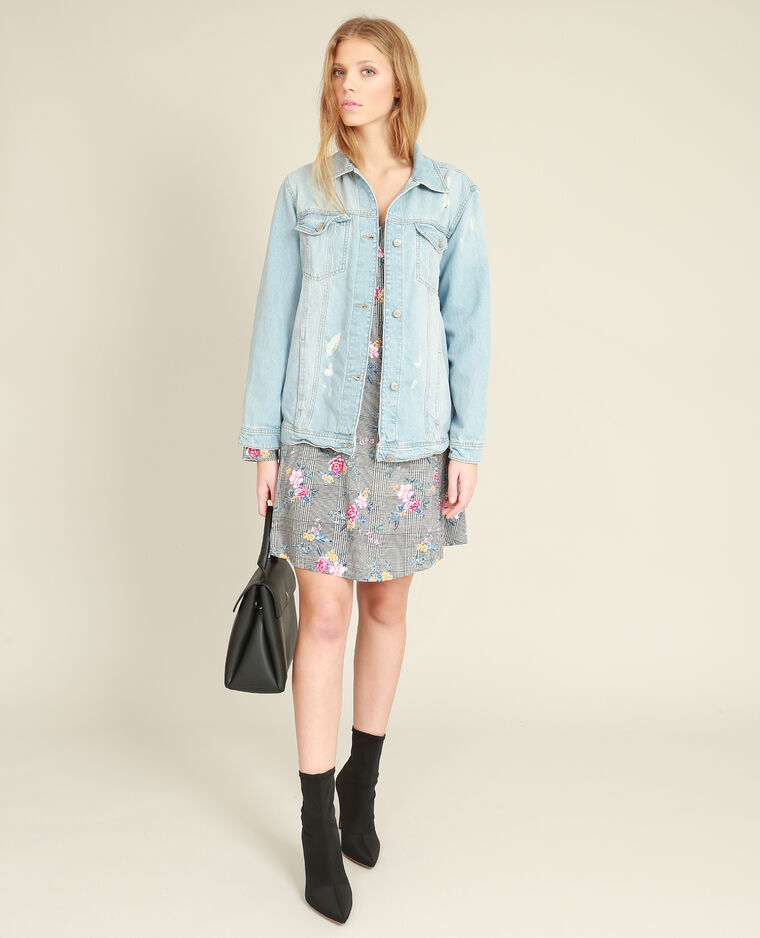 Giacca in jeans oversize blu delavato