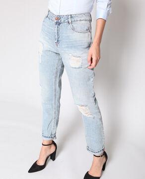 Jeans boyfriend blu cielo