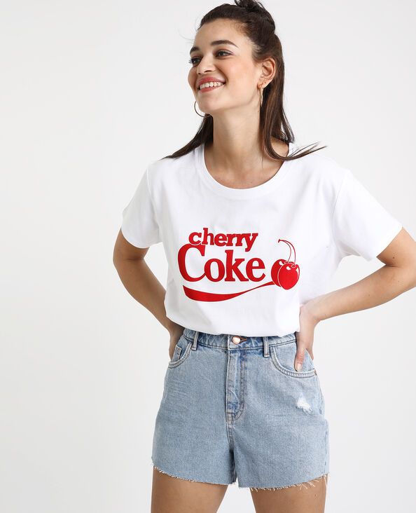 7ea1899791fc T-shirt Cherry Coke bianco