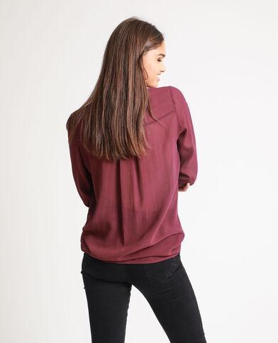 Camicia lunga bordeaux