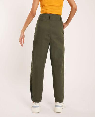 Pantalone a pieghe verde