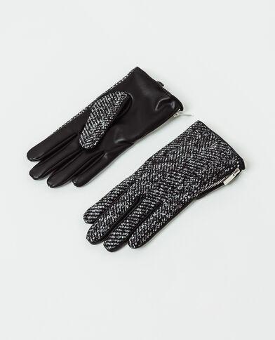 Guanti con zip nero