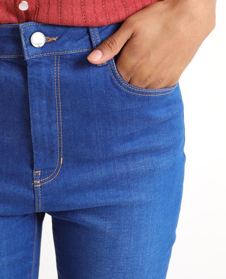 Jeans skinny a vita alta blu cielo