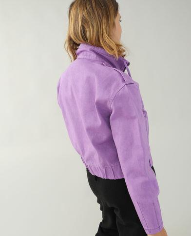 Giacca di jeans viola