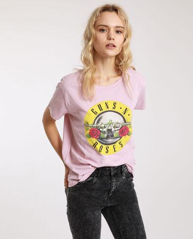 T-shirt Guns N' Roses rosa