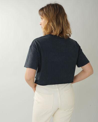 T-shirt cropped Il Re Leone grigio - Pimkie