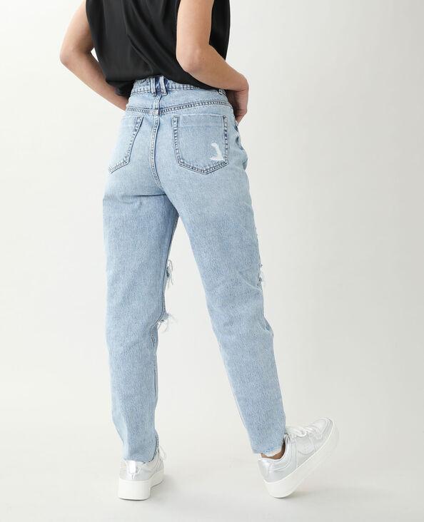 Jeans mom high waist blu chiaro