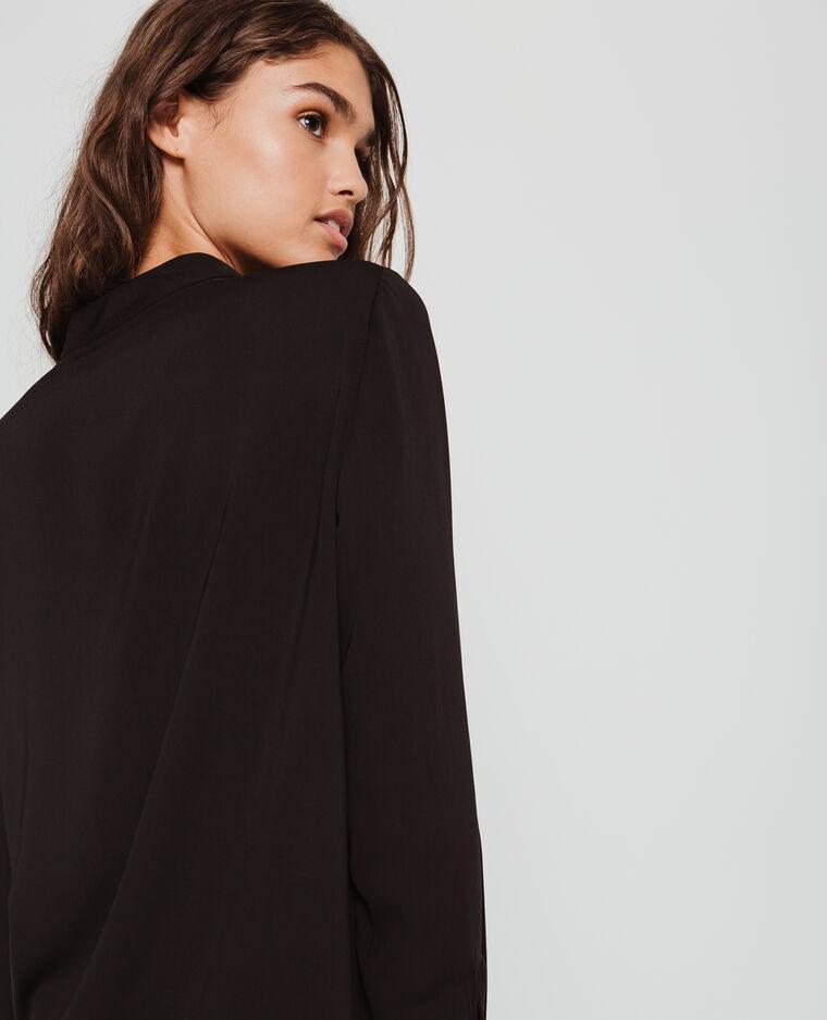 Blusa con bottoni nero
