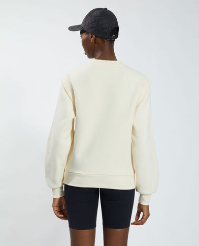 Felpa in cotone felpato bianco - Pimkie