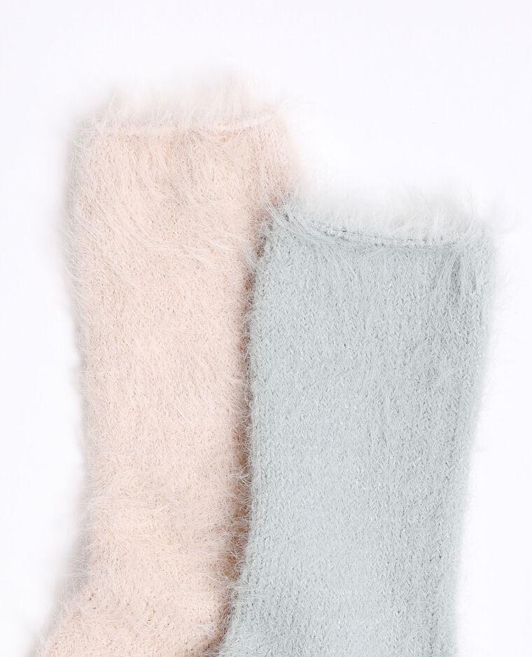 Calze fluffy rosa