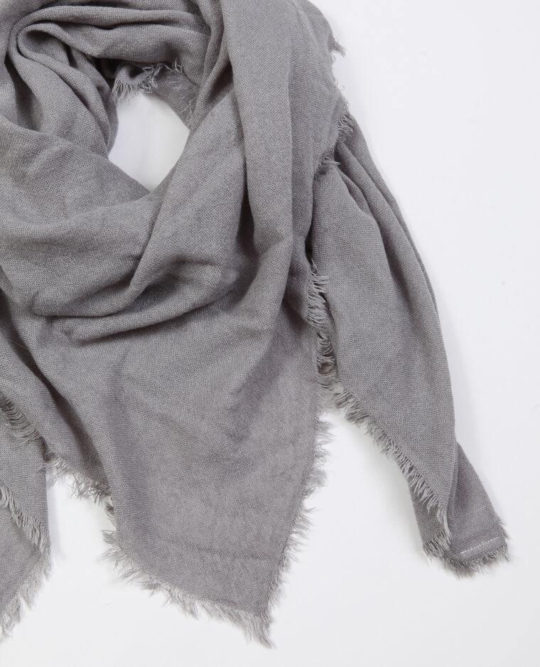 Foulard sottile grigio