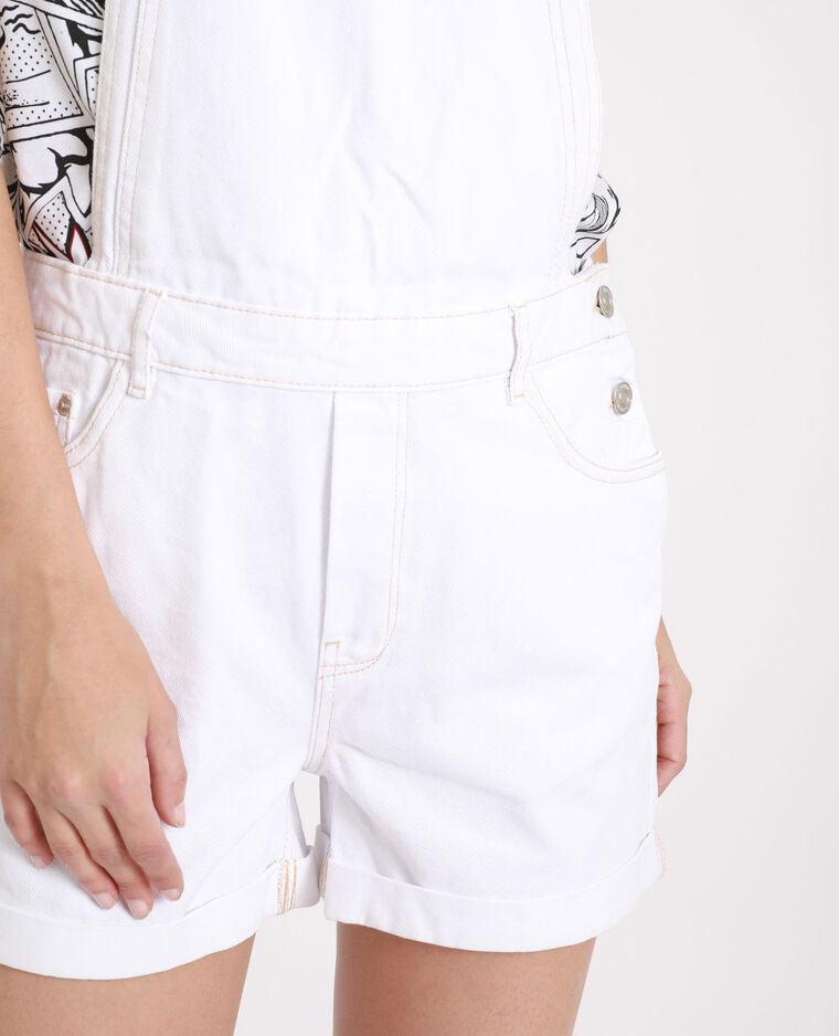 Salopette in jeans bianco