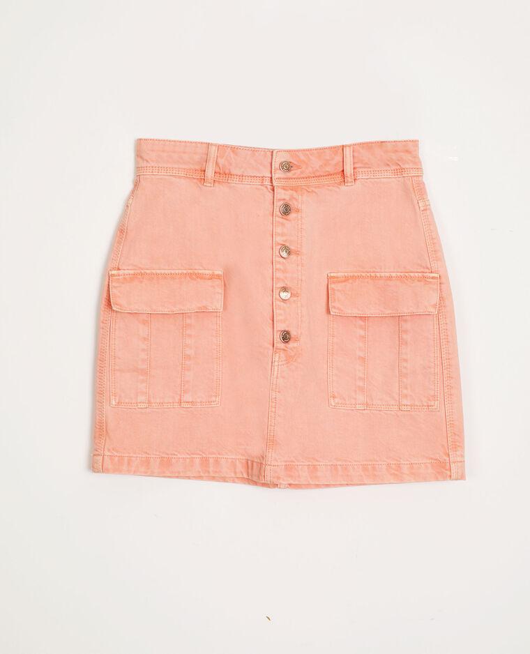 Gonna di jeans arancio