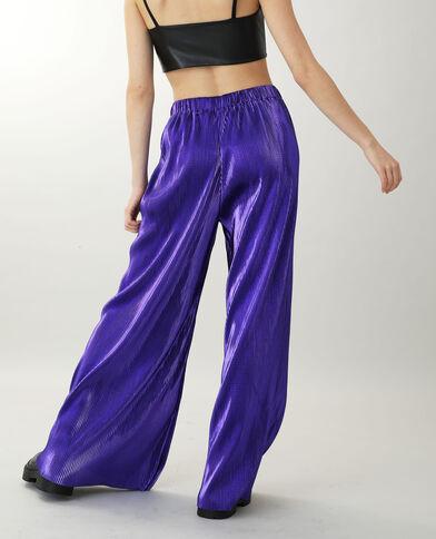 Pantalone largo viola