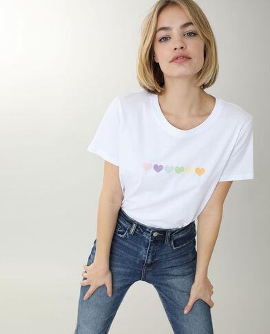 T-shirt a maniche corte écru