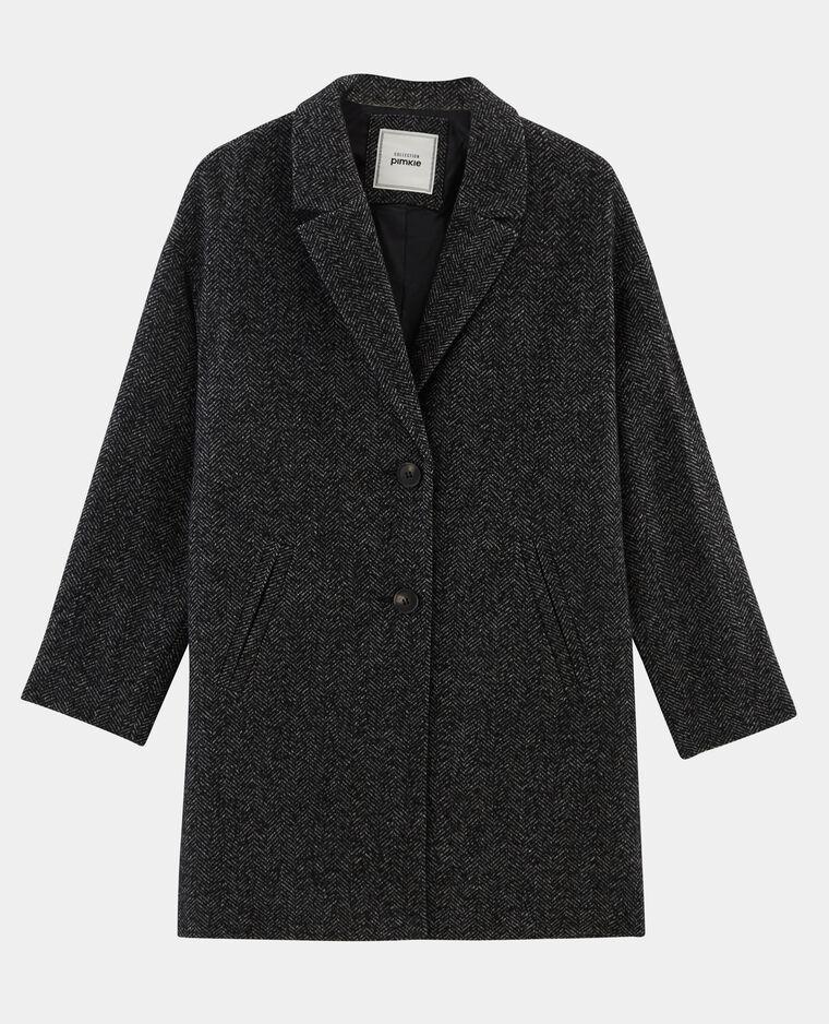 Cappotto dritto in lana grigio