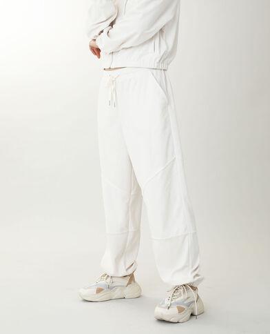 Pantalone da jogging in velluto bianco