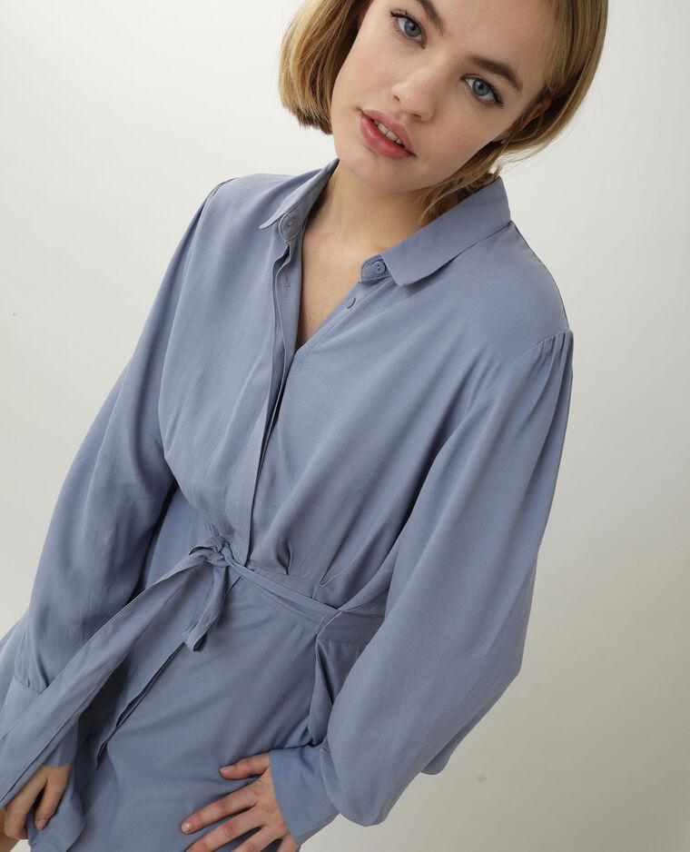 Abito camicia blu