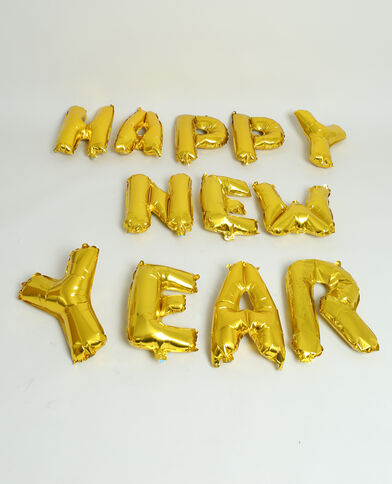 Pallone gonfiabile HAPPY NEW YEAR dorato