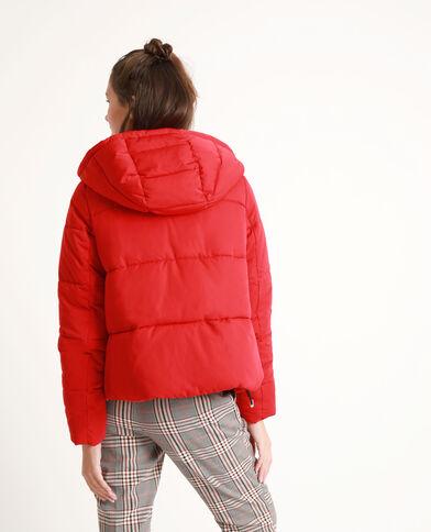 Piumino con cappuccio Rosso