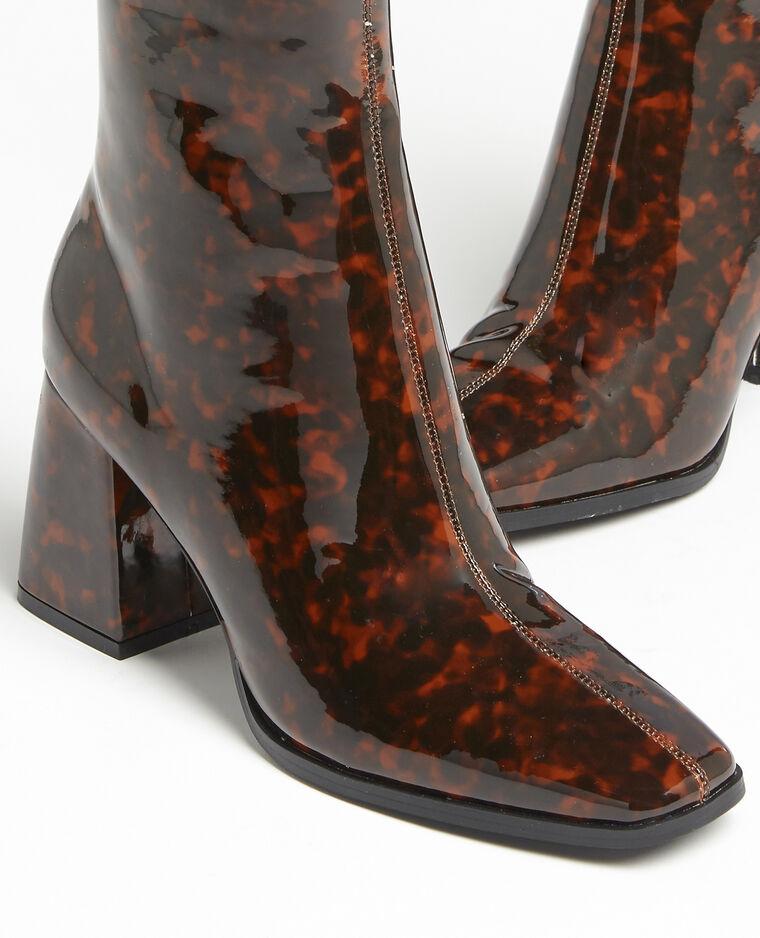 Boots con punta quadrata marrone