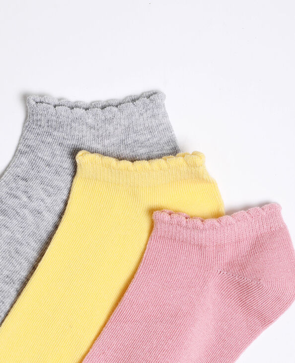 Calzini bassi colorati grigio