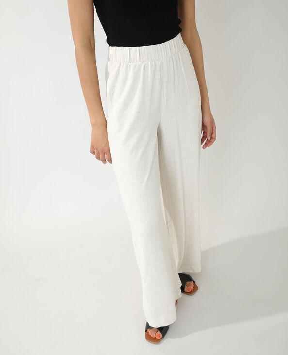 Pantalone wide leg in stile rustico écru - Pimkie