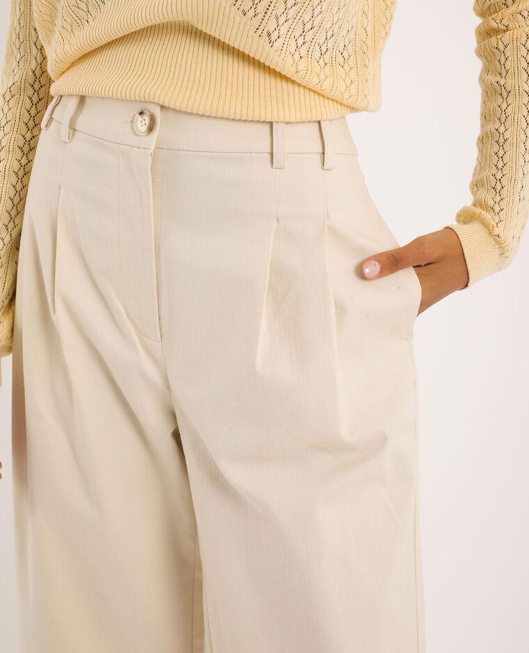 Pantalone a vita alta beige