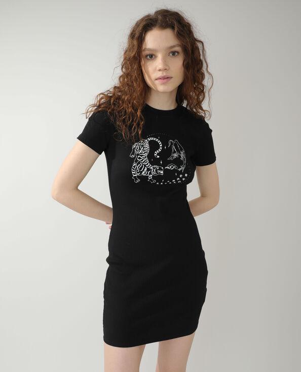 Abito t-shirt nero - Pimkie