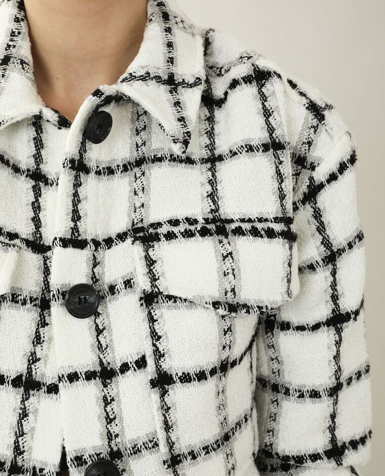 Giacca in tweed oversize bianco