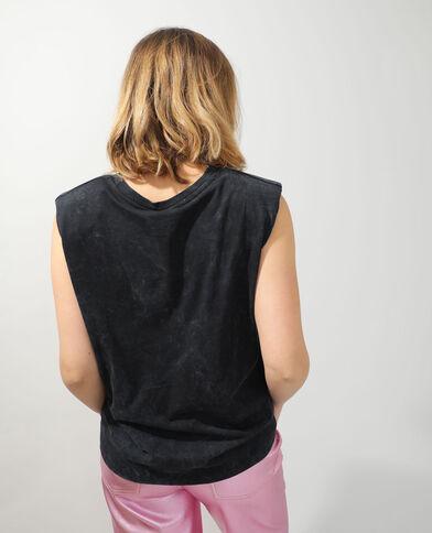 T-shirt con spalline Wonder Woman grigio antracite - Pimkie