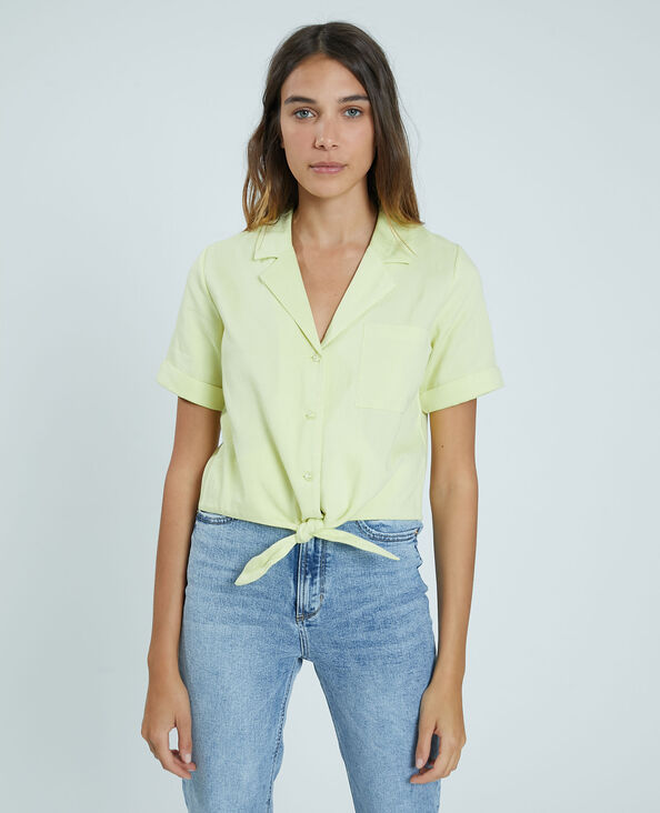 Camicia cropped giallo - Pimkie
