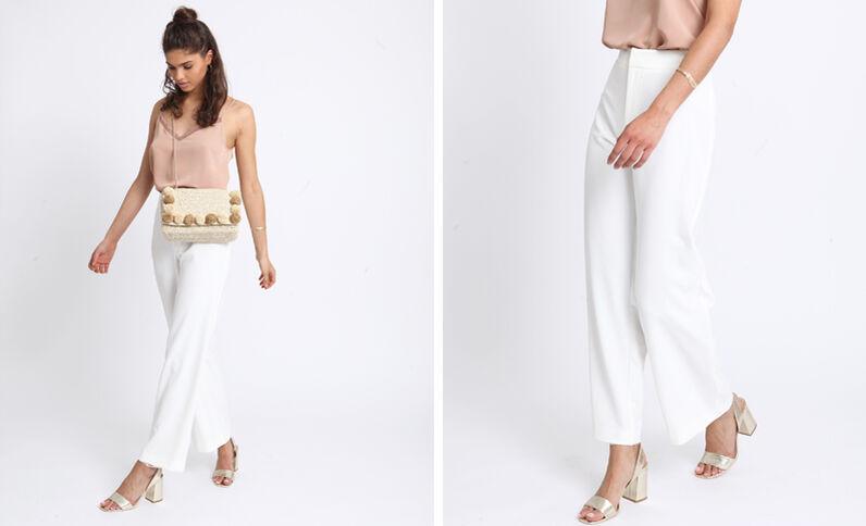 Pantalone morbido e largo bianco